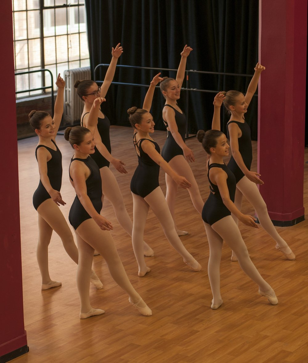 """Cecchetti Syllabus (10 yrs – advanced) - Cecchetti method offers class levels that progress from Grades I – VII and Diploma levels. Students will be expected to memorize terms, as well as """"barre"""" and """"centre"""" combinations from a syllabus book which will need to be purchased at the start of the year. When the students are prepared, a professional examiner will be brought to South Dakota to administer a nationally certified exam. Dance Gallery requires that students take two years of class work at each level in order to take the professional exams. It is important to note that the instructor will make the decision on when a dancer is prepared to take an exam.The Dance Gallery is the only school in Sioux Falls that offers this method that encourages students to be nationally examined. For more information on this method of ballet instruction, click herefor the Cecchetti Council of America national website."""