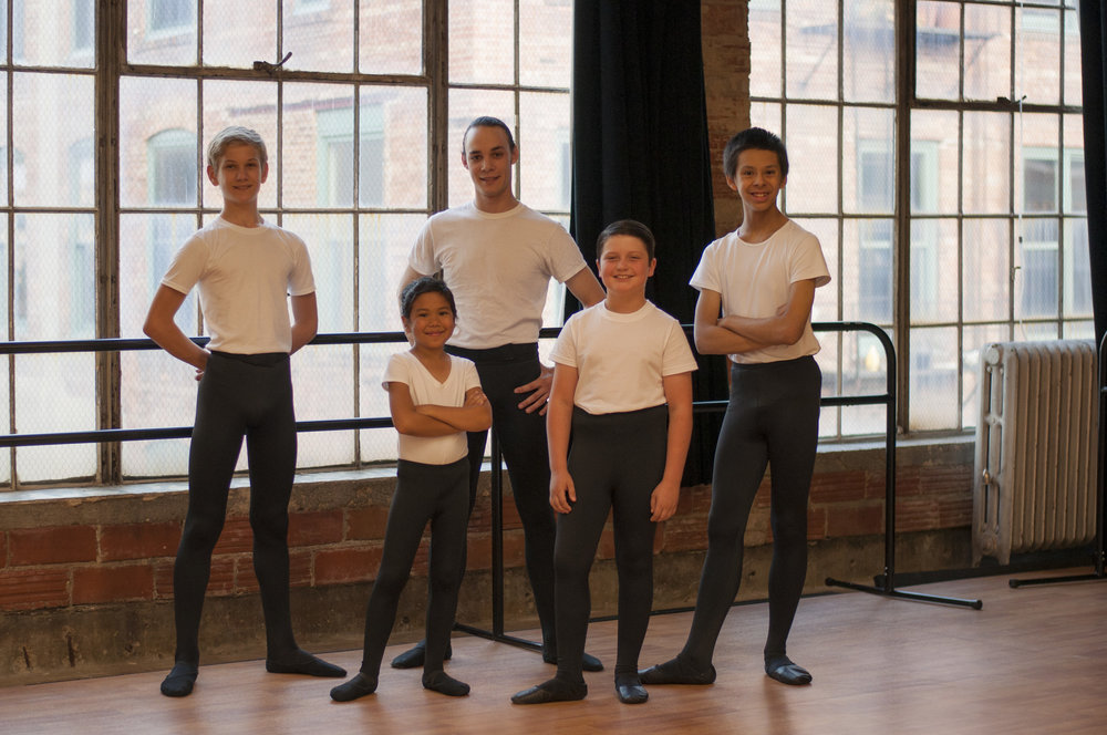 Boys ballet - Dance Gallery offers ballet for boys 3 to 6 years of age, Creative Movement, Kinder Movement I, and Kinder Movement II. For more information on each class scroll up to read class descriptions.Boys 7 years of age and older interested in enrolling at Dance Gallery will be given the opportunity to participate in Dance Gallery's Boys Ballet Program. Dance Gallery firmly believes in training boys in proper ballet technique. Ballet teaches self-discipline, self-motivation and self-awareness. If this is something you are interested in please contact us at info@dancegallerysd.com so that we can send you additional information regarding the program.