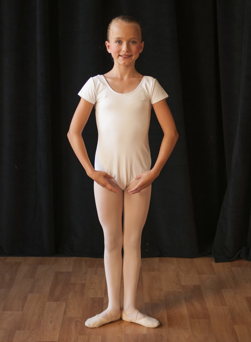creative movement -  White short or long sleeve leotardPink footed or convertible tights (no specific brand required)Pink ballet shoesHair in a bunSkirt, sweater and leg warmers are optional but at the discretion of the teacher