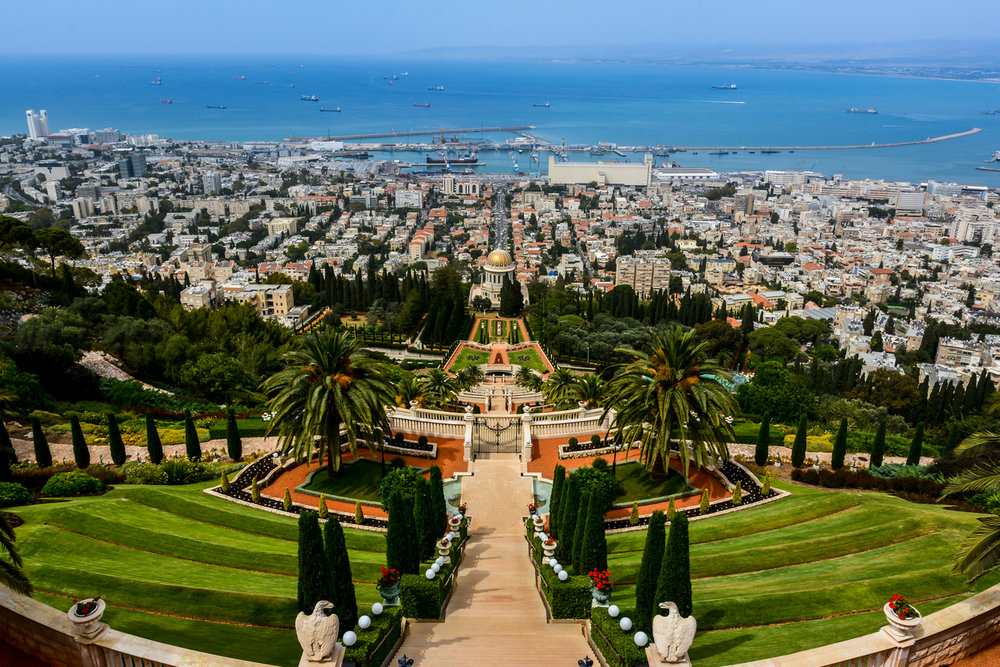 The Bahai gardens and temple in Haifa, Isarael