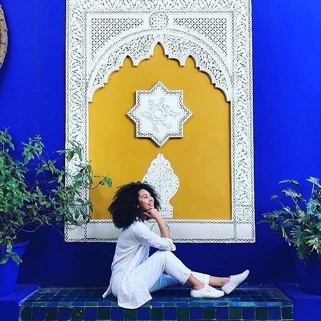 When your beauty crush becomes your travel crush 💙💙 @biancamaxwell