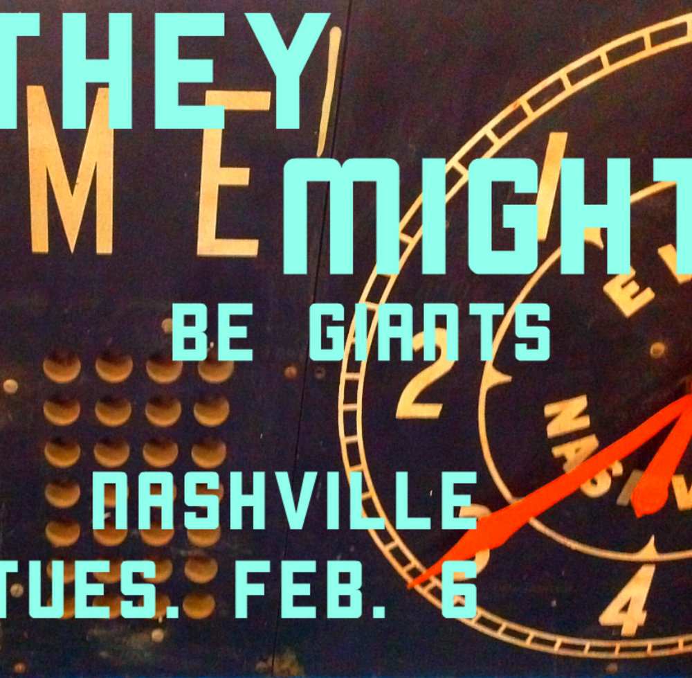 1.20 Atlanta, GA SOLD OUT 1.21 Charlotte, NC http://bit.ly/tmbg0121 1.23 Charleston, SC http://bit.ly/tmbg0123 1.24 Ponte Vedra, FL http://bit.ly/tmbg0124 1.25 Orlando, FL http://bit.ly/tmbg0125 1.26 Ft. Lauderdale, FL http://bit.ly/tmbg0126 selling out! 1.27 St. Petersburg, FL SOLD OUT 1.28 Pensacola, FL http://bit.ly/tmbg0128 1.30 Birmingham, AL SOLD OUT 1.31 Baton Rouge, LA http://bit.ly/tmbg0131 2.1 Austin, TX http://bit.ly/tmbg0201 APOLLO 18 SHOW! 2.2 Houston, TX http://bit.ly/tmbg0202 2.3 Dallas, TX SOLD OUT 2.6 Nashville, TN http://bit.ly/tmbg0206 2.7 Indianapolis, IN http://bit.ly/tmbg0207 2.8 Columbus, OH http://bit.ly/tmbg0208 2.9 St. Louis, MO http://bit.ly/tmbg0209 2.10 Detroit, MI SOLD OUT 2.11 Cleveland, OH SOLD OUT 2.27 Phoenix, AZ http://bit.ly/tmbg0227 3.1 San Diego, CA SOLD OUT 3.2 Los Angeles, CA SOLD OUT  3.3 San Francisco, CA SOLD OUT 3.4 San Francisco, CA http://bit.ly/TMBG0304 selling out! 3.6 Eugene, OR http://bit.ly/tmbg0306 3.7 Seattle, WA SOLD OUT 3.8 Portland, OR http://bit.ly/tmbg0308 selling out! 3.9 Salt Lake City, UT http://bit.ly/tmbg309 3.10 Denver, CO http://bit.ly/tmbg0310 3.11 Boulder, CO http://bit.ly/tmbg0311 3.13 Kansas City, MO http://bit.ly/tmbg0313 3.14 Omaha, NE http://bit.ly/tmbg0314  3.15 Minneapolis, MN http://bit.ly/tmbg0315 3.16 Milwaukee, WI http://bit.ly/tmbg0316 selling out! 3.17 Chicago, IL http://bit.ly/tmbg0317 selling out! 3.18 Louisville, KY http://bit.ly/tmbg0318 4.13 New Haven, CT http://bit.ly/tmbg0413 4.14 Washington, DC http://bit.ly/tmbg0414 4.15 Pittsburgh, PA http://bit.ly/tmbg0415 4.17 Cincinnati, OH http://bit.ly/tmbg0417 4.19 Rochester, NY http://bit.ly/tmbg0419 4.20 Burlington, VT http://bit.ly/tmbg0420 selling out! 4.21 Portland, ME http://bit.ly/tmbg0421 selling out! 4.22 Albany, NY http://bit.ly/tmbg0422 4.26 Northampton, MA http://bit.ly/tmbg0426 4.27 Boston, MA http://bit.ly/tmbg0427 4.28 Philadelphia, PA http://bit.ly/tmbg0428 selling out!  Then we get on a jet plane! 9.20 Leeds, UK http://bit.ly/tmbg0920 2nd SHOW ADDED! 9.21 Leeds, UK SOLD OUT 9.22 Cambridge, UK http://bit.ly/tmbg0922 9.23 Bristol, UK http://bit.ly/tmbg0923 9.25 Munich, DE http://bit.ly/tmbg0925 9.26 Antwerp, BE http://bit.ly/tmbg0926 9.27 Amsterdam, NL http://bit.ly/tmbg0927 9.28 Berlin, DE http://bit.ly/tmbg0928 9.29 Hamburg, DE http://bit.ly/tmbg0929 10.1 Koln, DE http://bit.ly/tmbg1001 10.3 London, UK http://bit.ly/tmbg1003 10.4 Manchester, UK http://bit.ly/tmbg1004 10.5 Edinburgh, UK http://bit.ly/tmbg1005 10.6 Dublin, IE http://bit.ly/tmbg1006