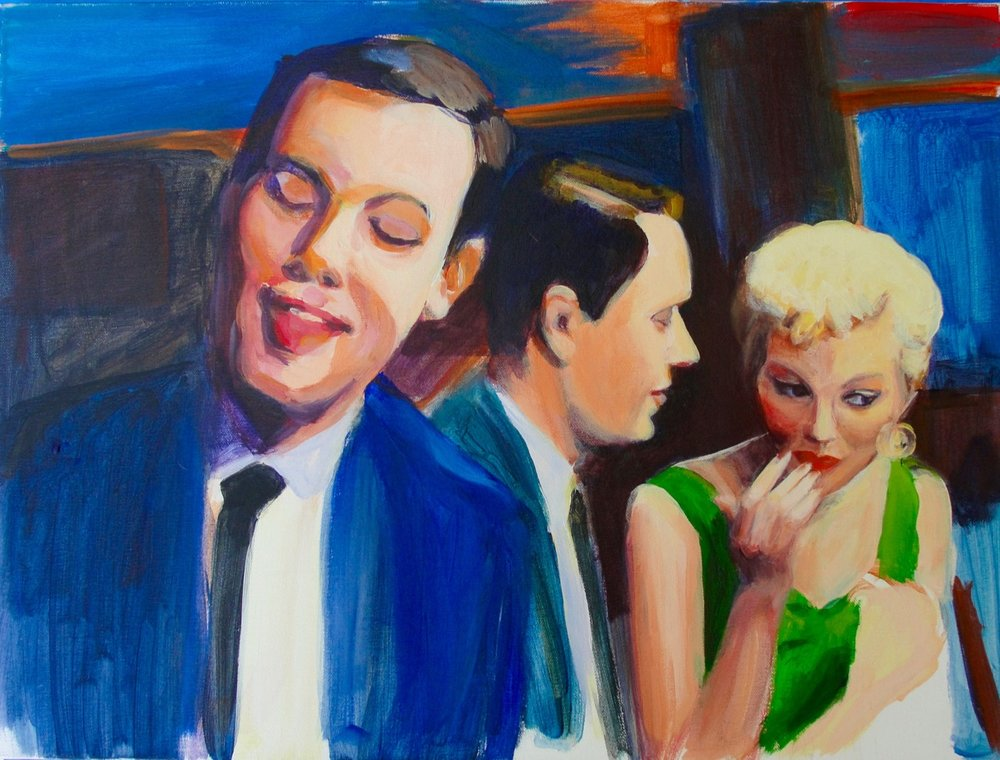 PETE AND PAUL IN THE NIGHTCLUB (2013). Acrylic on canvas, 18 x 24 inches