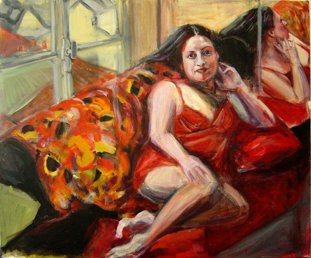 LUZ IN PARIS (2003). Acrylic on canvas 24 x 30 inches