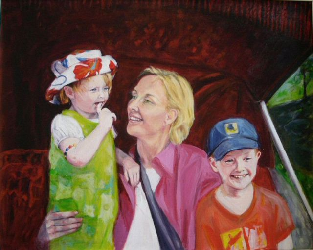 CENTRAL PARK (2005). Acrylic on canvas, 30 x 40 inches. Private collection, Ireland.