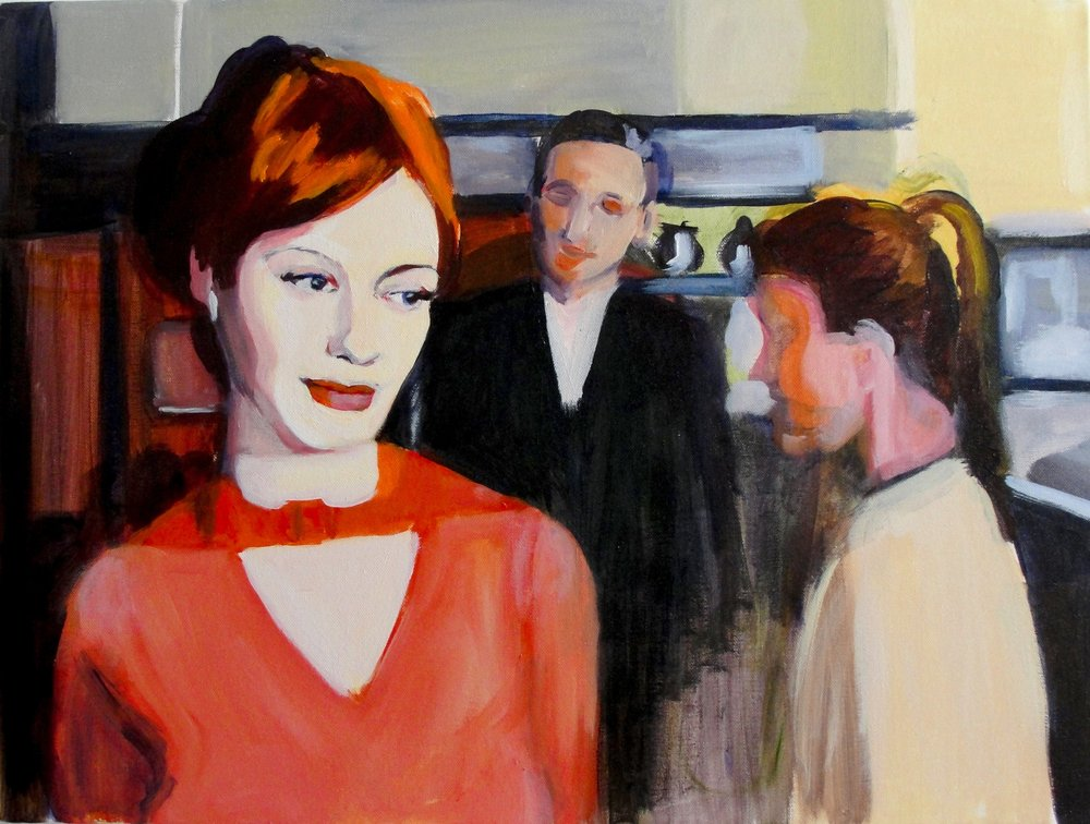 CAREER WOMAN (2010). Acrylic on canvas, 18 x 24 inches.