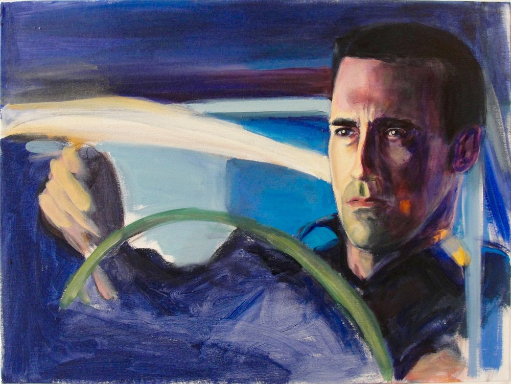 DON DRAPER (2010). Acrylic on canvas, 18 x 24 inches.