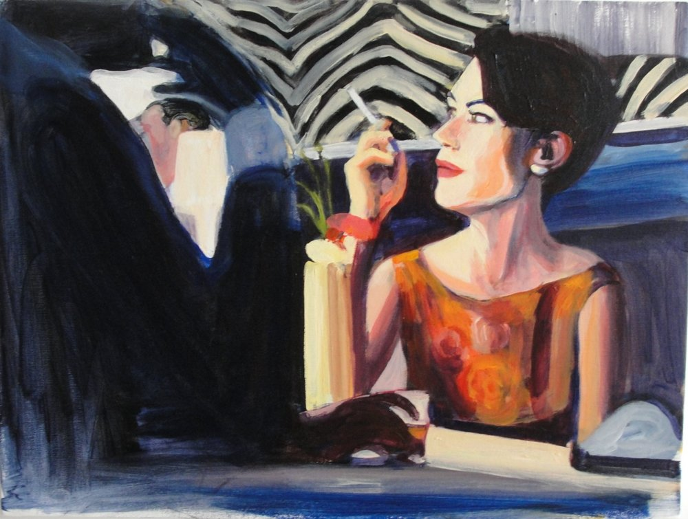 THE DEPARTMENT STORE HEIRESS (2010). Acrylic on canvas, 18 x 24 inches.