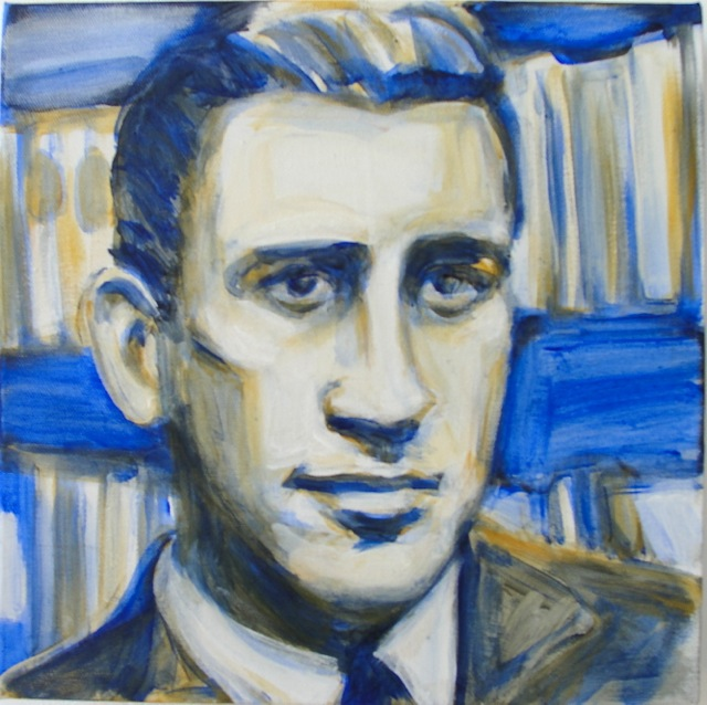 JD SALINGER (2010). Acrylic on canvas, 12 x 12 inches