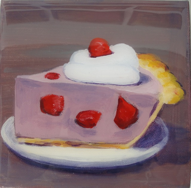 FROSTY PIE (2012). Acrylic and resin on canvas 6 x 6 inches. Private collection, U.S.
