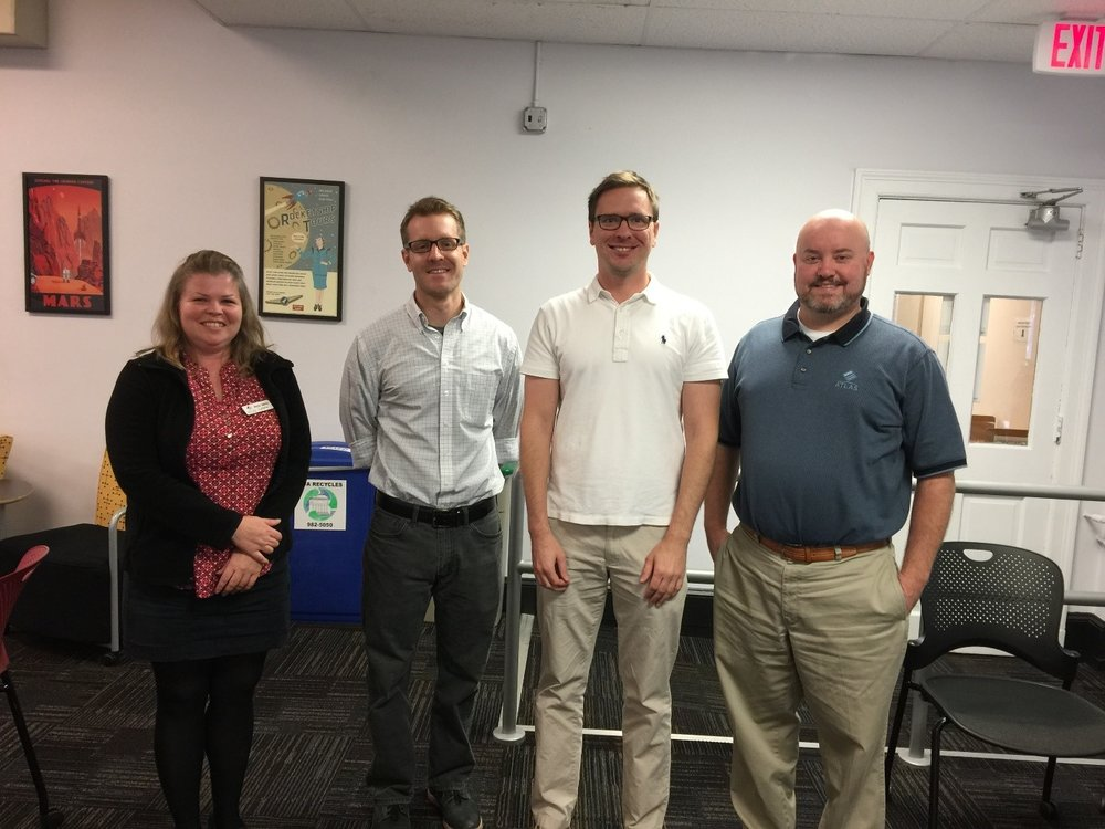 (Left to Right) Anne Marie Lyons, Atlas Systems; Noah Huffman, Duke University; Mark Custer, Yale University; Chris Youngblood, Atlas Systems