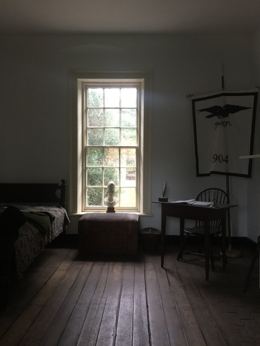 Interior of Edgar Allan Poe's room