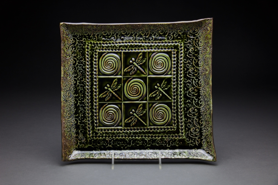 14x14 in. Forest Green Glaze