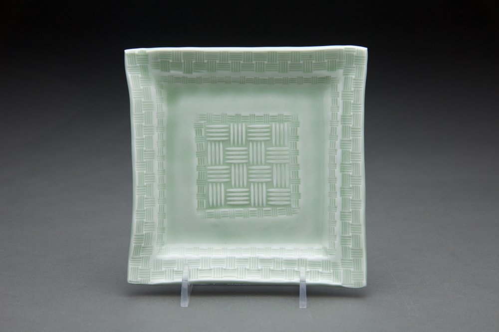 5x5 in. Light sage glaze