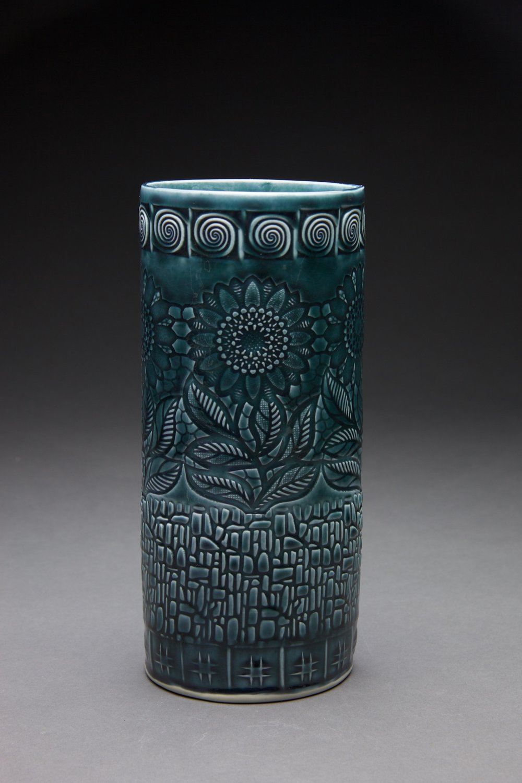 5x5x12 inches Persian Blue glaze
