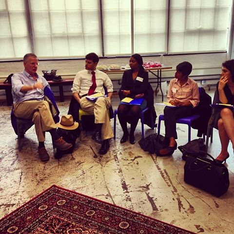 Fellows meet with professors to learn how they can make a difference moving forward