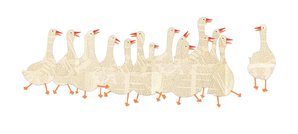 Petite Collage Illustration Series