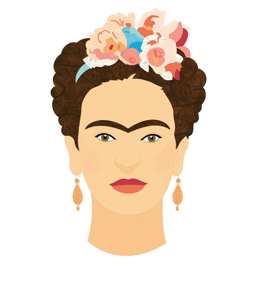 Frida Kahlo, Petite Collage Illustration Series