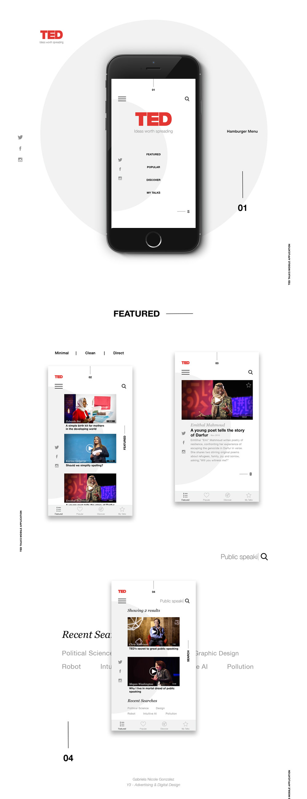 Ted Talks Mobile App Design