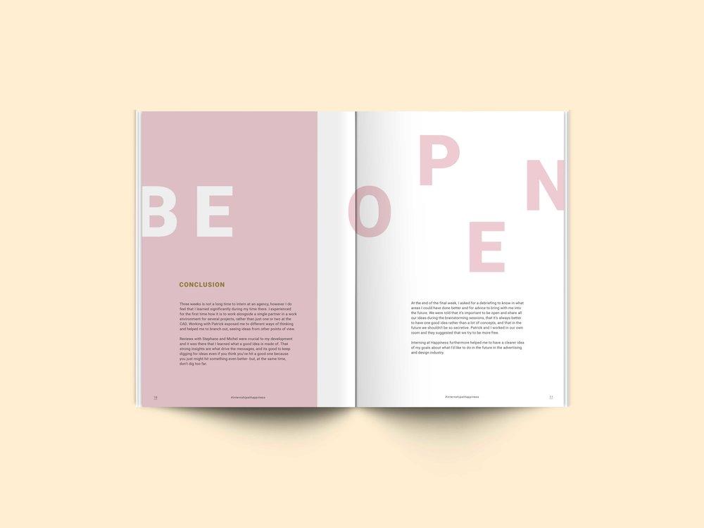Happiness Report Editorial Design Spread