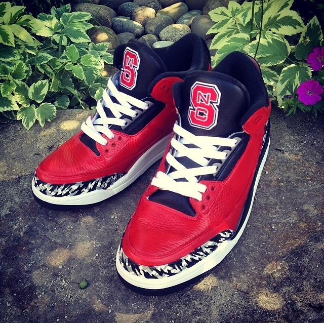 NC State Wolfpack Jordan 3's