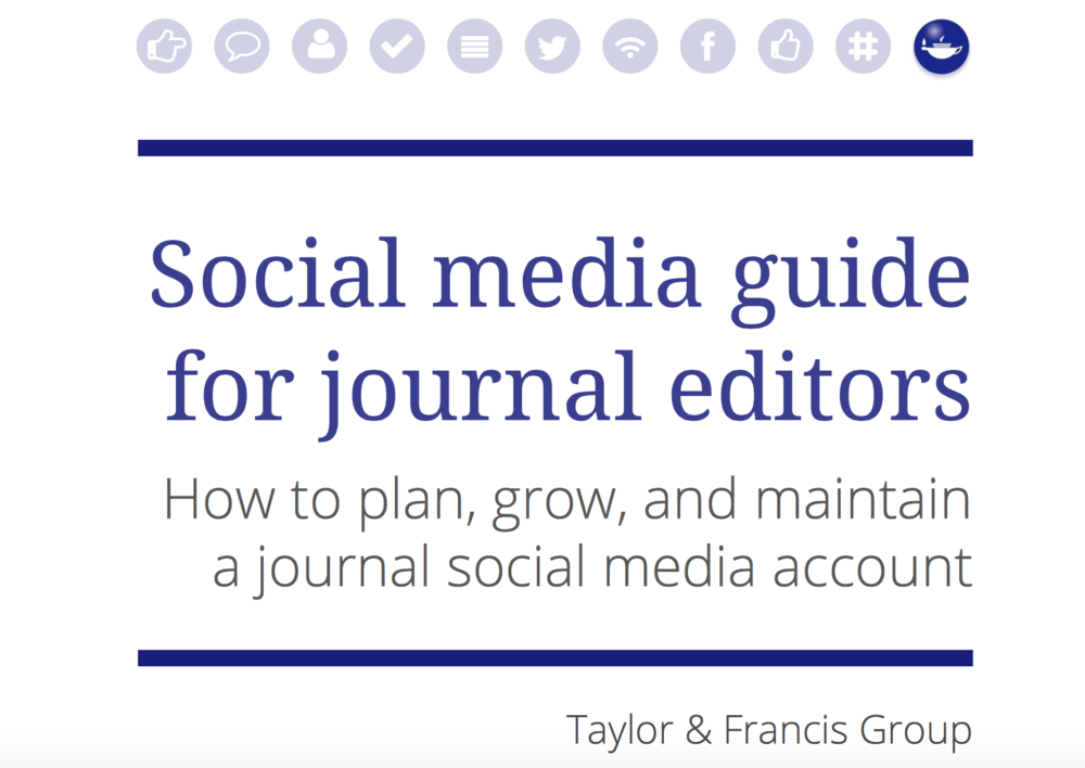 Social media guide for journal editors