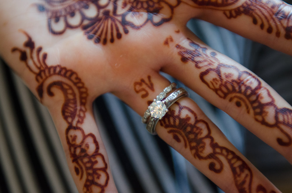 WEDDING: Sana + Steve at The Conservatory at Sussex County Fairgrounds   Henna. A beautiful inclusion of many faiths.