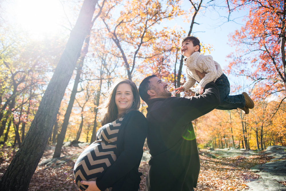 MATERNITY: Lindsay, Joe, Luke + Baby Kyle   Fall foliage remained on point in 2016 for this family's gorgeous maternity shoot at Bear Mountain.