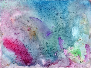 Undersea Fantasy -  Abstract in Watercolor Ink