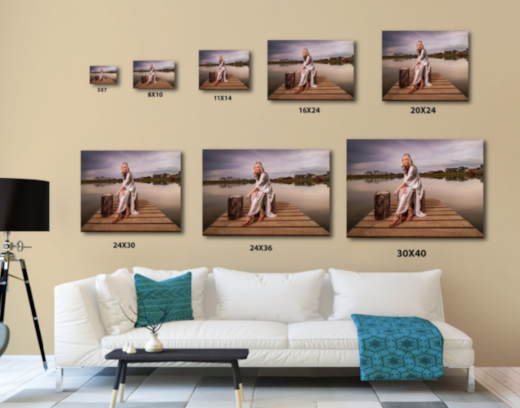 Professional Print Size Examples