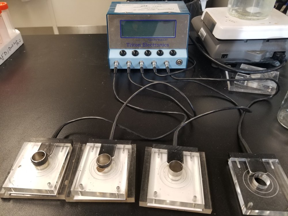 Capillary Suction Time measurement  (the rapid assessment of resistance to filtration)