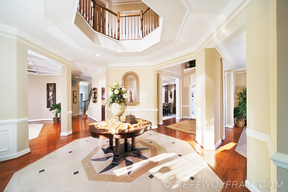 Residential Interior Foyer Photographed By Interior Photographer Jeff  Wolfram