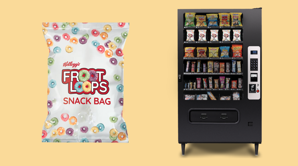 Vending machine sized option for indulging on the go.