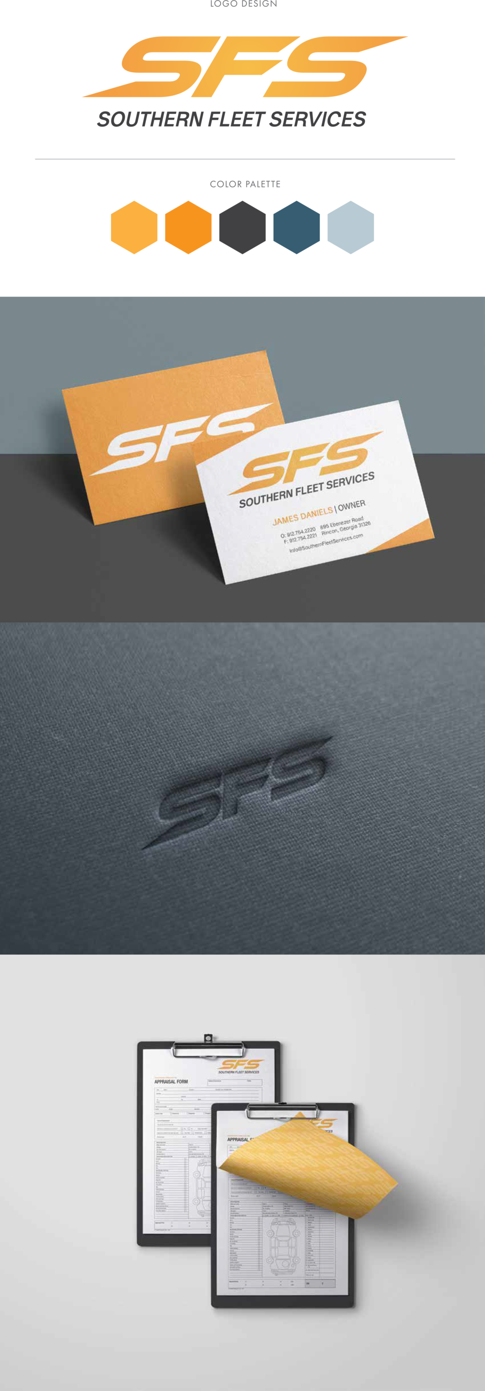 Original mockups and branding board before the logo was finalized, in order to show the client different applications of the logo for better judgment and review.