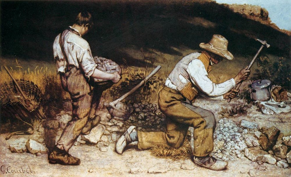 Gustave Courbet, The Stonebreakers, 1849, oil on canvas. 165x257 cm. CC