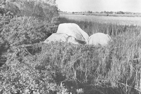Beverly Buchanan, Marsh Ruins, concrete and tabby, 1981. (Marshes of Glynn, Brunswick, GA). © Beverly Buchanan.