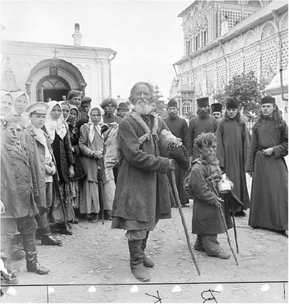 """Russian beggars and priests."""