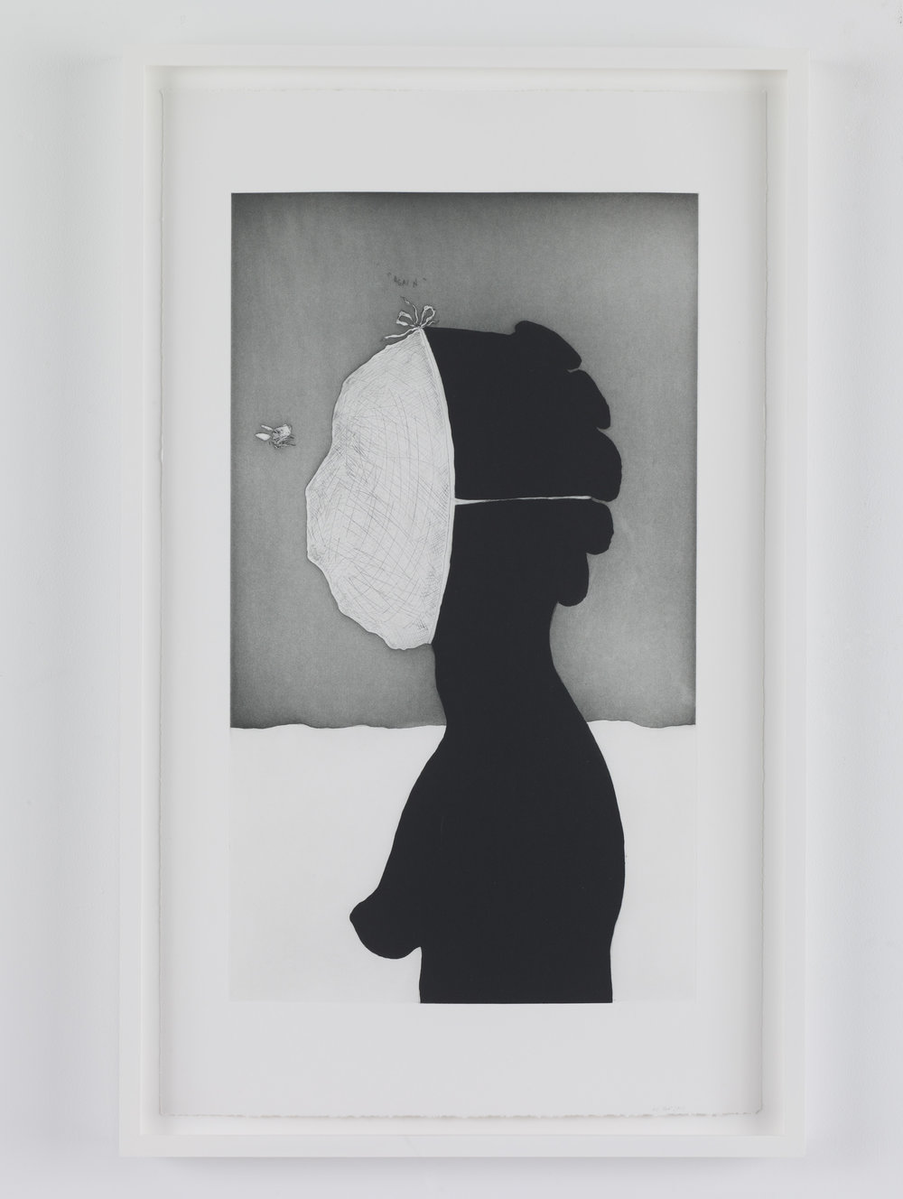 Kara Walker,  savant  from  An Unpeopled Land in Uncharted Waters , 2010. One from a suite of 6 etchings with aquatint, sugar-lift, spit-bite and dry-point. 27 x 17 inches (68.6 x 43.2 cm). © Kara Walker, courtesy of Sikkema Jenkins & Co., New York.