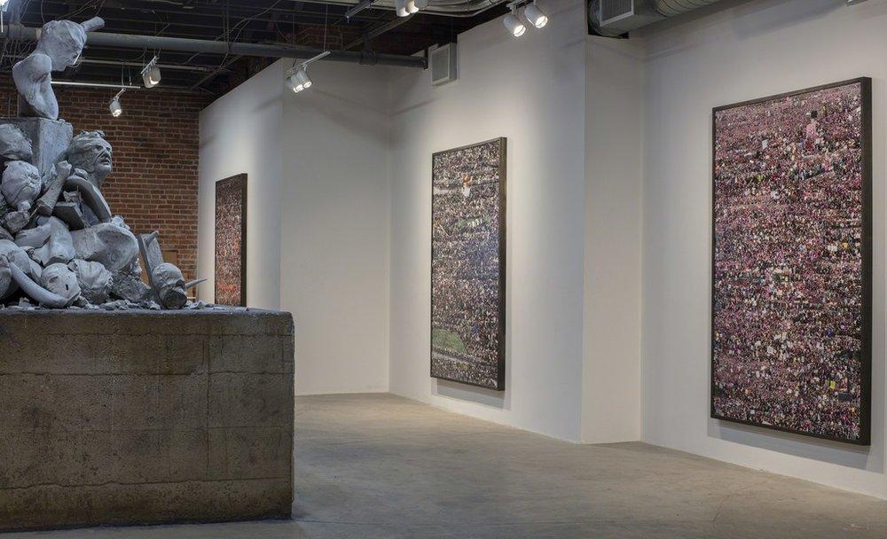 Felix R. Cid installation at Garis & Hahn, 2017