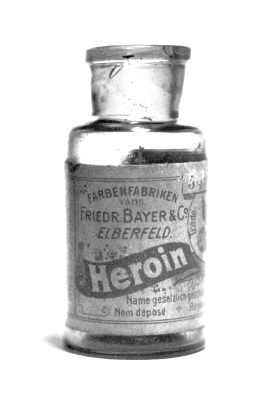 A bottle of Bayer heroin