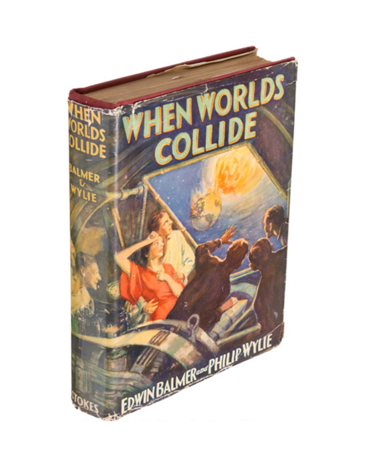 The first edition of  When Worlds Collide,  published by Frederick A. Stokes Company in 1933.