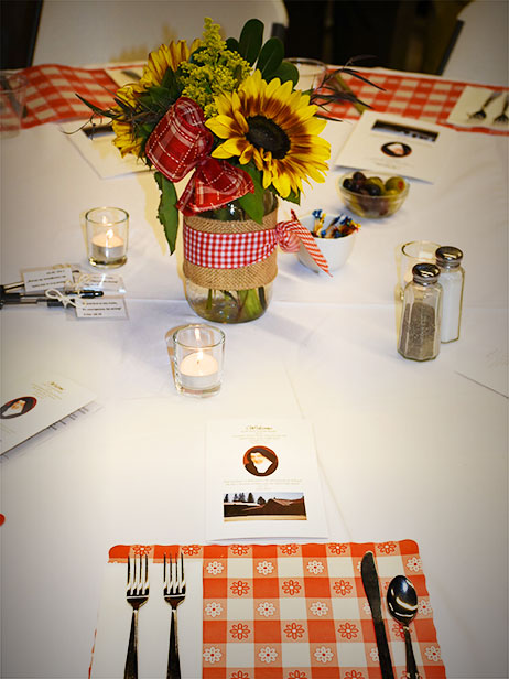 Spaghetti Luncheon Table Setting