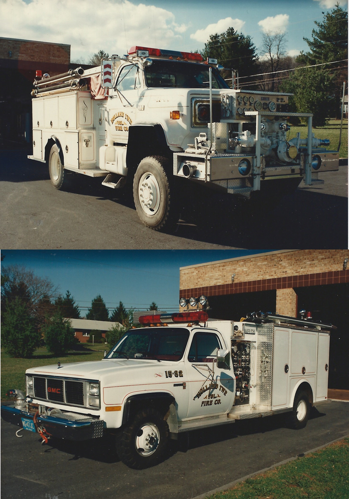 Our four wheel drive pumper and utility truck were soon added. They are no longer in service.
