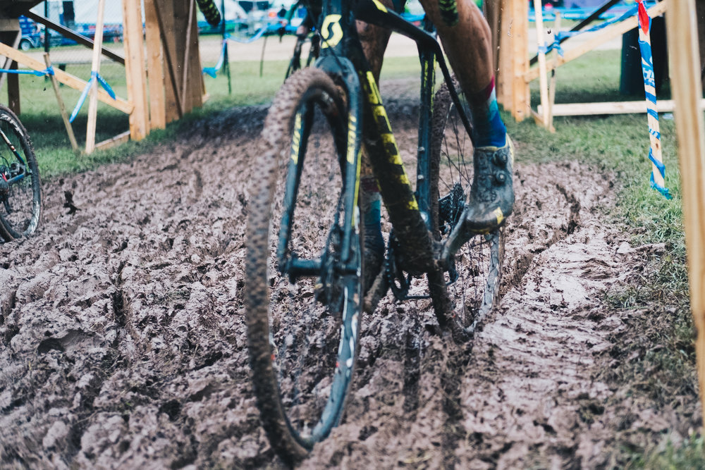 Though most of the course was muddy, this was the only section that had thick power sapping mud.