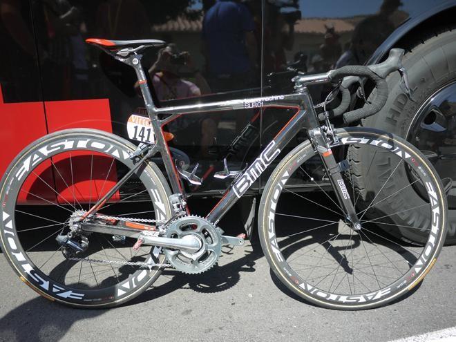 Cadel Evan's bike during his Tour de France Win