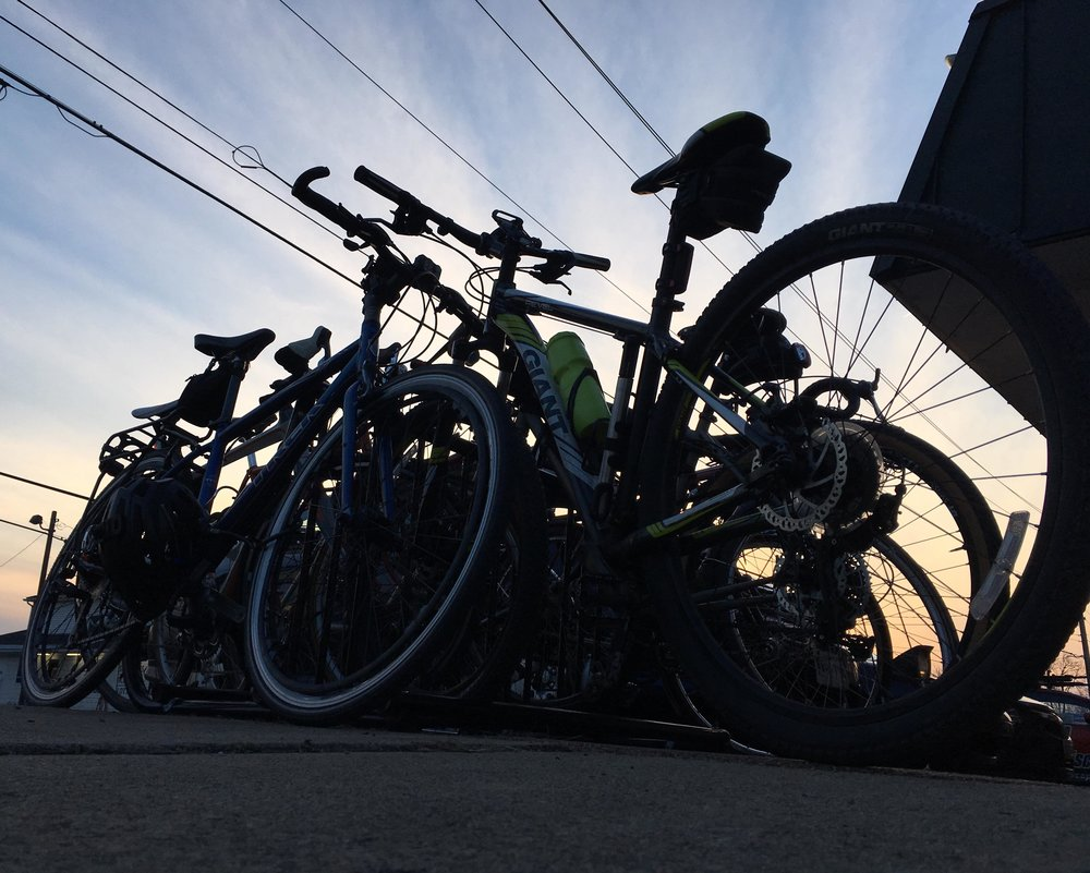 Look at all these bikes!
