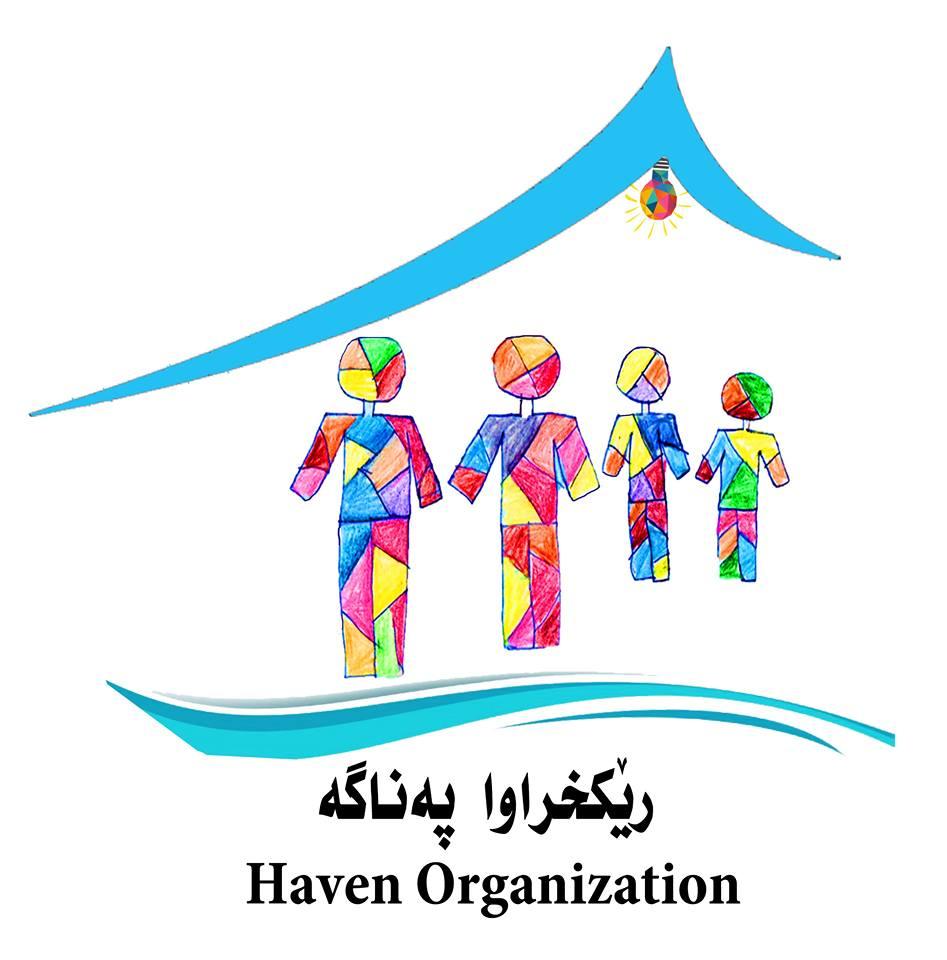 The logo for the Haven Organization, a local Kurdish non-profit organization!