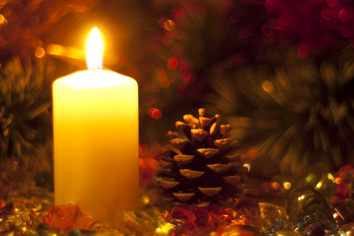 christmas eve services - Candle Christmas Lights