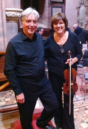 Julia Watkins (violin) & Stephen Broom (viola)