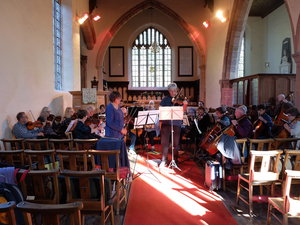 Gwent chamber orchestra in practice